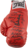 Boxing Collectibles:Autographs, Boxing Legends Signed Glove....