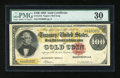 Large Size:Gold Certificates, Fr. 1210 $100 1882 Gold Certificate PMG Very Fine 30....