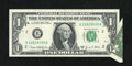 Error Notes:Foldovers, Fr. 1907-B $1 1969D Federal Reserve Note. Extremely Fine-AboutUncirculated.. ...