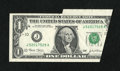 Error Notes:Foldovers, Fr. 1929-J $1 2003 Federal Reserve Note. About Uncirculated.. ...