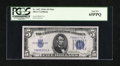 Small Size:Silver Certificates, Fr. 1651 $5 1934A Mule Silver Certificate. PCGS Gem New 65PPQ.. ...
