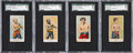 "Boxing Cards:General, 1910 V153 Robertson Candy ""Prize Fighters"" SGC-Graded Quartet(4)...."