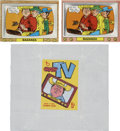 "Non-Sport Cards:Other, 1968 Topps Test ""Crazy TV- Bazanza"" Proof Variations PlusWrapper...."