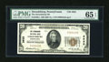National Bank Notes:Pennsylvania, Stroudsburg, PA - $20 1929 Ty. 1 The Stroudsburg NB Ch. # 3632. ...