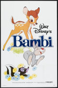 "Movie Posters:Animated, Bambi (Buena Vista, R-1982). One Sheet (27"" X 41""). Animated.. ..."