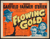"""Flowing Gold (Warner Brothers, 1940). Title Lobby Card (11"""" X 14""""). Drama"""