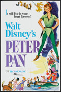 "Movie Posters:Animated, Peter Pan (Buena Vista, R-1976). One Sheet (27"" X 41"") and Stills (4) (8"" X 10""). Animated.. ... (Total: 5 Items)"