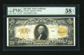 Large Size:Gold Certificates, Fr. 1187 $20 1922 Gold Certificate PMG Choice About Unc 58 EPQ....
