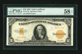 Large Size:Gold Certificates, Fr. 1173a $10 1922 Gold Certificate PMG Choice About Unc 58 EPQ....