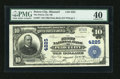 National Bank Notes:Missouri, Peirce City, MO - $10 1902 Plain Back Fr. 627 The First NB Ch. #4225. ...