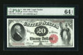 Large Size:Legal Tender Notes, Fr. 147 $20 1880 Legal Tender PMG Choice Uncirculated 64 EPQ....