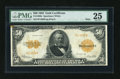 Large Size:Gold Certificates, Fr. 1200a $50 1922 Mule Gold Certificate PMG Very Fine 25....