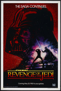 "Revenge of the Jedi (20th Century Fox, 1982). One Sheet (27"" X 41""). Science Fiction"
