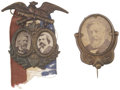 Political:Ferrotypes / Photo Badges (pre-1896), James G. Blaine: Pair of Exceptional 1884 Campaign Badges....(Total: 2 Items)