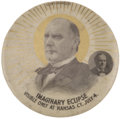 "Political:Pinback Buttons (1896-present), William McKinley and William Jennings Bryan: A Most Unusual 1½""""Eclipse"" Button Variety. ..."