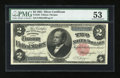 Large Size:Silver Certificates, Fr. 246 $2 1891 Silver Certificate PMG About Uncirculated 53....