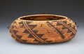 American Indian Art:Baskets, A POMO COILED TREASURE BASKET. c. 1905...