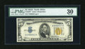 Small Size:World War II Emergency Notes, Fr. 2307* $5 1934A North Africa Silver Certificate. PMG Very Fine 30.. ...