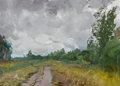 Fine Art - Painting, Russian:Contemporary (1950 to present), MIKHAIL KONOV (Russian, b. 1928). The Road in Spring, 1963.Oil on cardboard. 19-3/4 x 27-1/4 inches (50.2 x 69.2 cm). S...