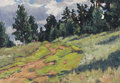 Fine Art - Painting, Russian:Contemporary (1950 to present), VASILY PAVLOVICH BORISENKOV (Russian, 1924-2007). SummerPath, 1980. Oil on artist's board. 13-3/4 x 20 inches (34.9 x5...