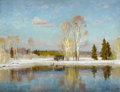 Fine Art - Painting, Russian:Contemporary (1950 to present), VSEVOLOD SOLODOV (Russian, 20th Century). Early Spring,2002. Oil on canvas. 25-1/2 x 33 inches (64.8 x 83.8 cm). Signed...
