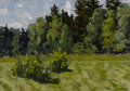 Fine Art - Painting, Russian:Contemporary (1950 to present), VASILY PAVLOVICH BORISENKOV (Russian, 1924-2007). SummerFields, 1982. Oil on artist's board. 13-3/4 x 20 inches (34.9x...