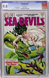 Sea Devils #3 (DC, 1962) CGC NM 9.4 Off-white pages