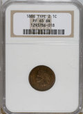 Proof Indian Cents, 1886 1C Type Two PR65 Brown NGC....
