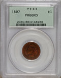 Proof Indian Cents, 1897 1C PR66 Red PCGS....