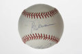 Autographs:Baseballs, Hall of Famers Multi-Signed Baseball. The three Hall of Famersinducted into the Hall in 1991 penned their signatures on th...