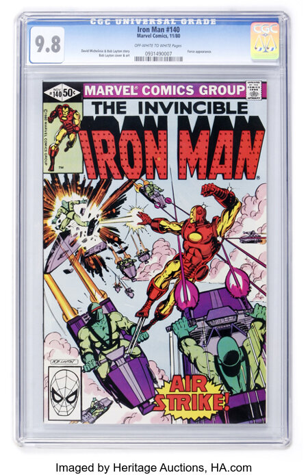 Iron Man #140 (Marvel, 1980) CGC NM/MT 9.8 Off-white to white pages....
