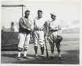 Baseball Collectibles:Photos, 1927 Babe Ruth, Ty Cobb & Eddie Collins Photograph from Culver Pictures Archives....