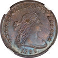 Early Dollars, 1798 $1 Large Eagle, Wide Date, Pointed 9 MS61 NGC....