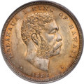 Coins of Hawaii, 1883 50C Hawaii Half Dollar MS64 PCGS. CAC....