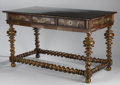 Furniture : Continental, A PORTUGUESE ROSEWOOD CENTER TABLE. Circa 1840. 34-1/4 x 58-1/2 x 31-1/2 inches (87.0 x 148.6 x 80.0 cm). ...