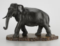 Sculpture, A JAPANESE BRONZE ELEPHANT. Atsuyoshi, Meiji Period, 19th Century. Inscribed on underside with artist's name in Japanese cha...
