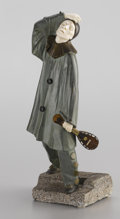 Fine Art - Sculpture, European:Modern (1900 - 1949), After THOMAS FRANCIS CARTIER (French, 1879-1943). Pierrot,Circa 1925. Bronze and ivory . 18 x 7 x 6 inches (45.7 x ...