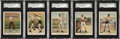 Boxing Cards:General, 1910 T220 Tolstoi Brand Boxers Graded SGC 70 EX+ 5.5 Group of (5)....