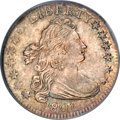 Early Dimes, 1807 10C --Curved Clipped Planchet--MS66 PCGS. CAC....