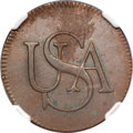 Colonials, (1785) Bar Copper MS61 Brown NGC....
