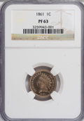 Proof Indian Cents, 1861 1C PR63 NGC....