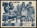 "Movie Posters:Adventure, In Old Missouri Lot (Republic, R-1953). Title Lobby Cards (4) andLobby Cards (9) (11"" X 14""). Adventure.. ... (Total: 13 Items)"