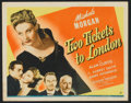 "Movie Posters:War, Two Tickets to London (Universal, 1943). Title Lobby Card (11"" X14"") and Lobby Cards (6) (11"" X 14""). War.. ... (Total: 7 Items)"