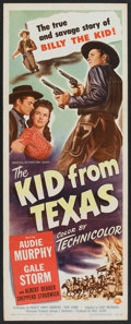 "Movie Posters:Western, The Kid from Texas (Universal International, 1949). Insert (14"" X 36""). Western.. ..."
