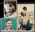 """Movie Posters:Romance, Gone with the Wind (MGM, R-1947 and R-1961). Color and Black and White Stills (4) (8"""" X 10""""). Romance.. ... (Total: 4 Items)"""