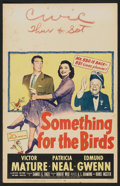 """Movie Posters:Comedy, Something for the Birds (20th Century Fox, 1952). Window Card (14"""" X 22""""). Comedy.. ..."""