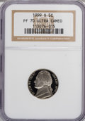 Proof Jefferson Nickels: , 1999-S 5C PR70 Ultra Cameo NGC. NGC Census: (426/0). PCGSPopulation (83/0). Numismedia Wsl. Price for NGC/PCGS coin in PR...
