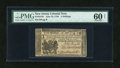 Colonial Notes:New Jersey, New Jersey June 22, 1756 3s PMG Uncirculated 60 Net....