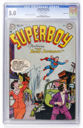 Golden Age (1938-1955):Superhero, Superboy #23 Double Cover (DC, 1952) CGC VG/FN 5.0 Off-white pages....