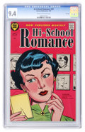 Golden Age (1938-1955):Romance, Hi-School Romance #39 File Copy (Harvey, 1955) CGC NM 9.4 Cream to off-white pages....